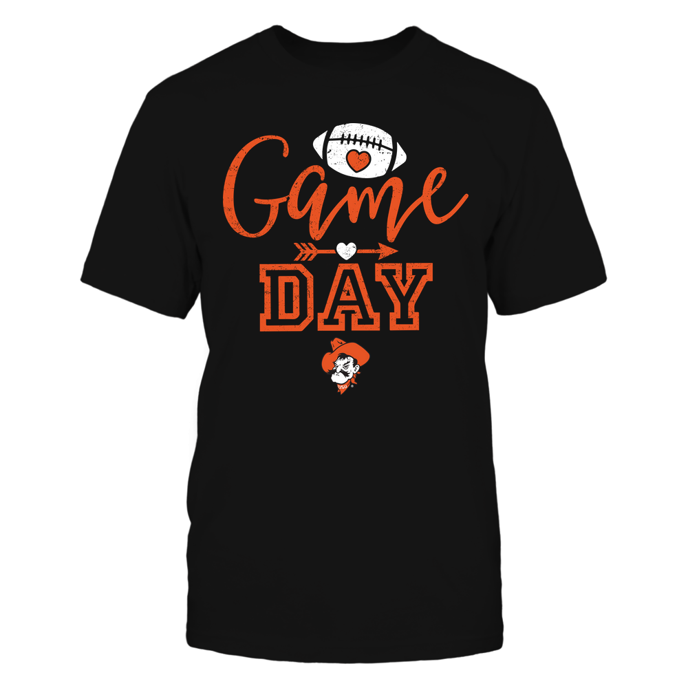 Oklahoma State Cowboys - Game Day - Football Heart Arrow - Team Front picture
