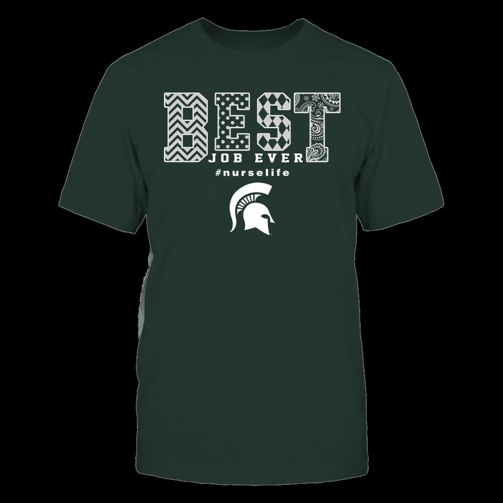 Michigan State Spartans - Nurse - Best Job Ever - Slogan Pattern Front picture