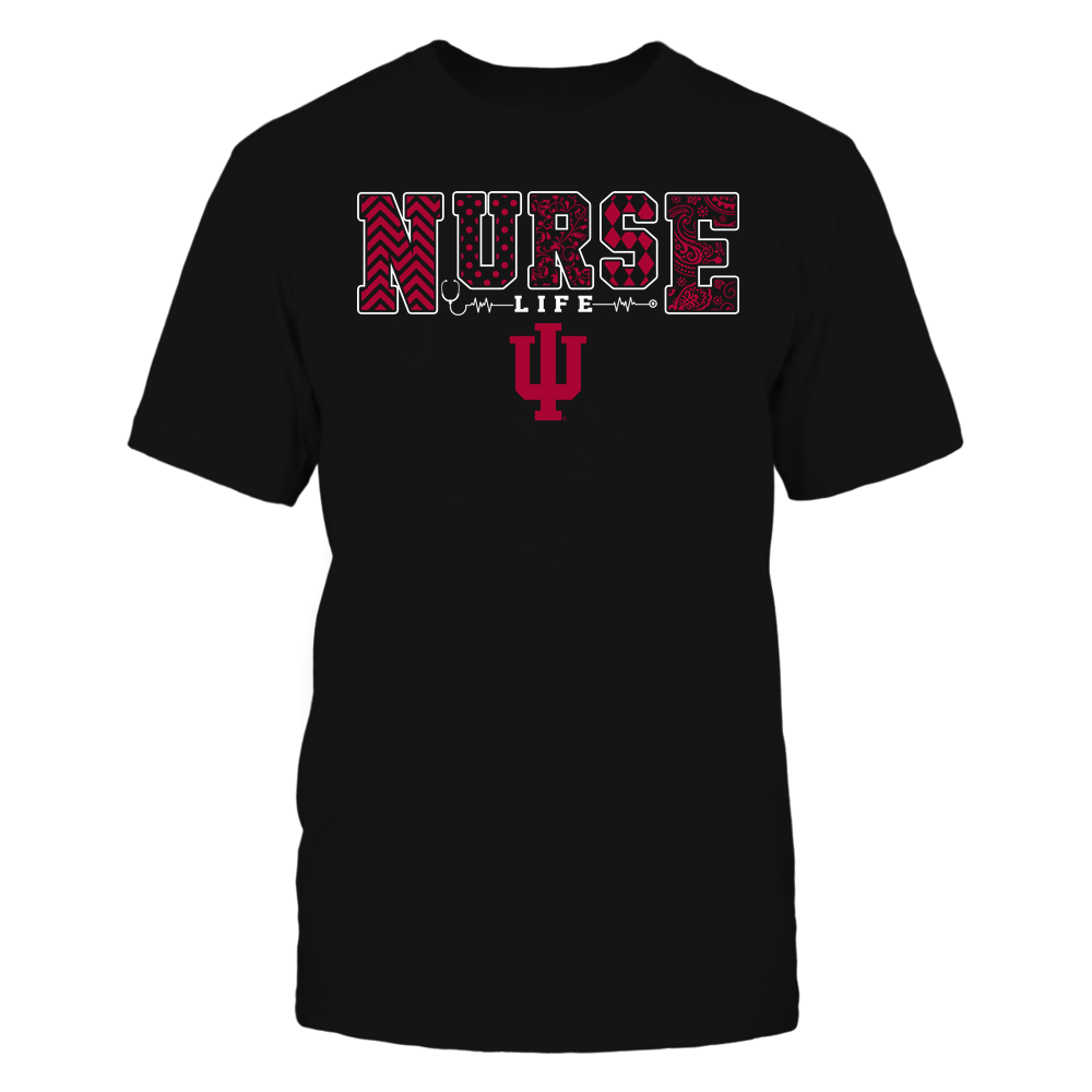 Indiana Hoosiers - Nurse Life - Slogan - Patterns Front picture