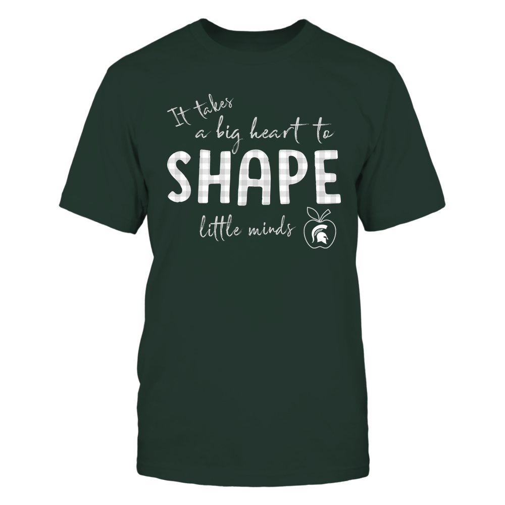 Michigan State Spartans - Teacher - It Takes A Big Heart To Shape Little Minds -  Checkered Front picture