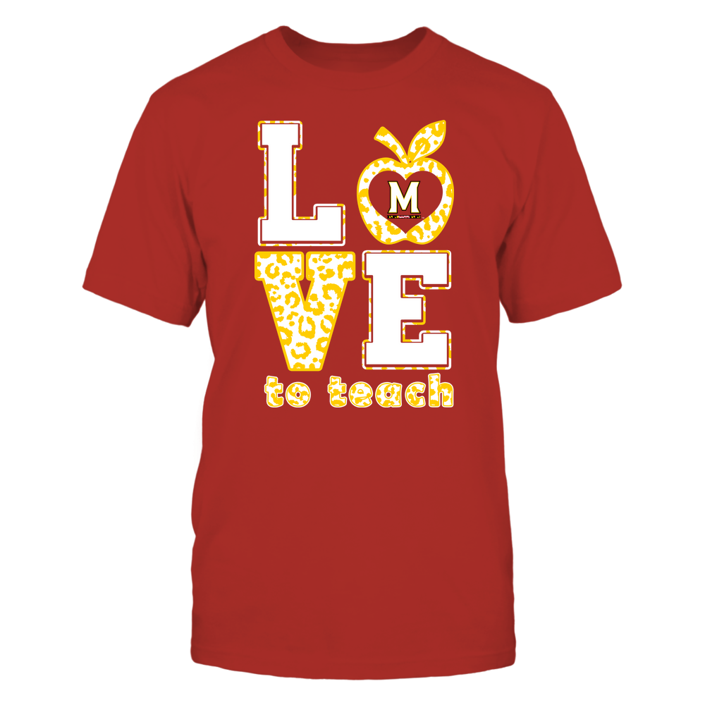 Maryland Terrapins - Teacher - Love To Teach - Leopard Pattern Front picture
