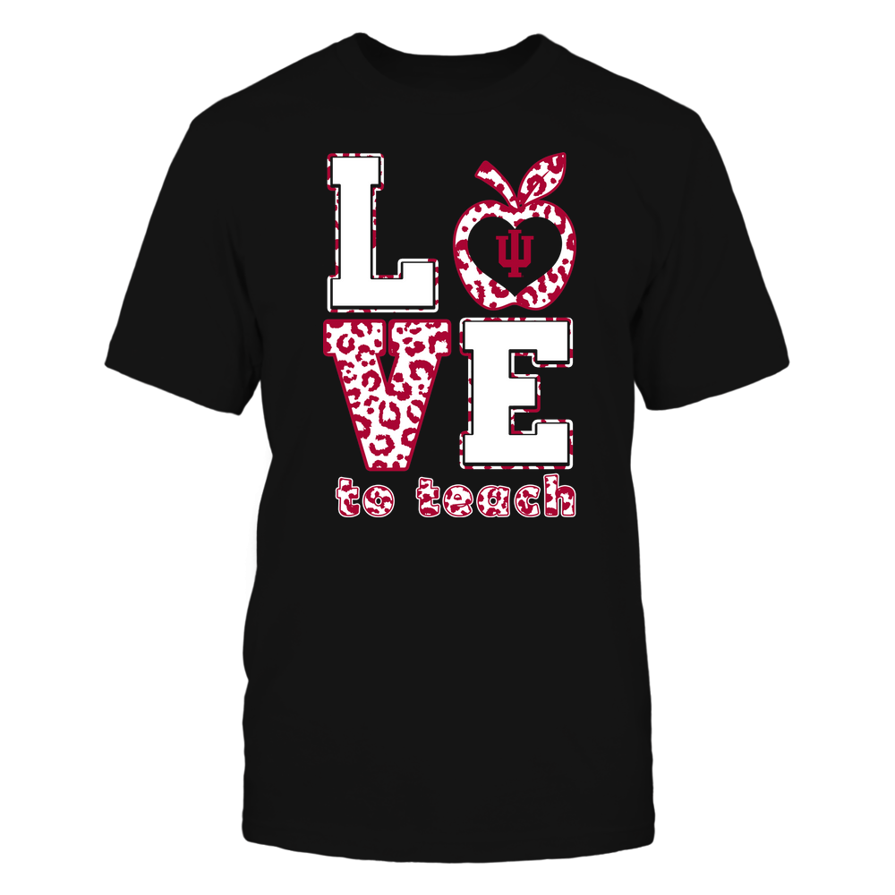 Indiana Hoosiers - Teacher - Love To Teach - Leopard Pattern Front picture