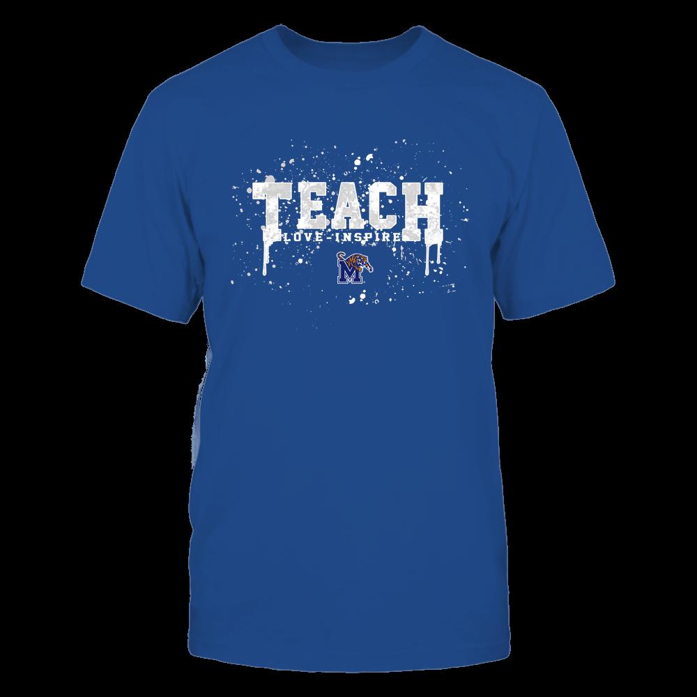 Memphis Tigers - Teacher - Teach Love Inspire - Color Drop Watercolor Front picture