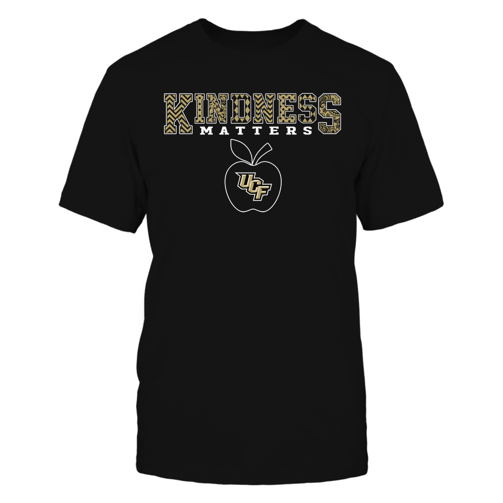 UCF Knights - Teacher - Kindness Matters - Slogan Pattern Front picture