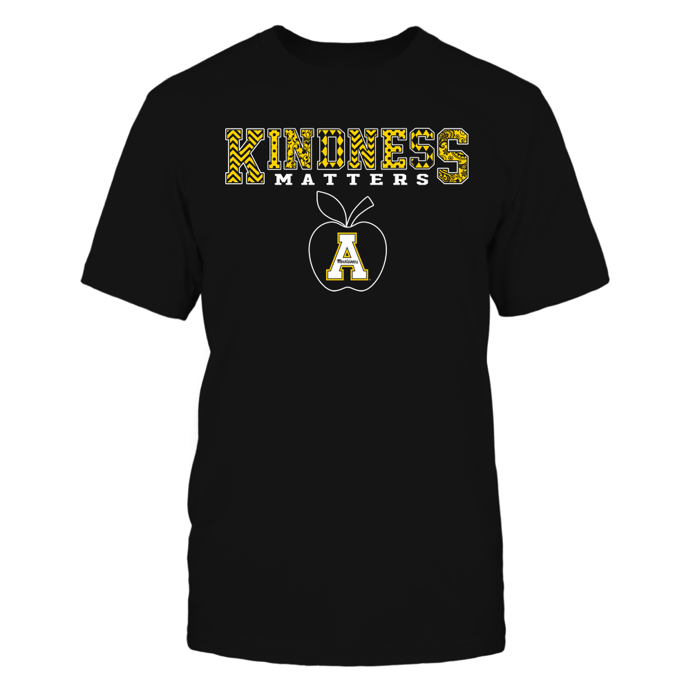 Appalachian State Mountaineers - Teacher - Kindness Matters - Slogan Pattern Front picture