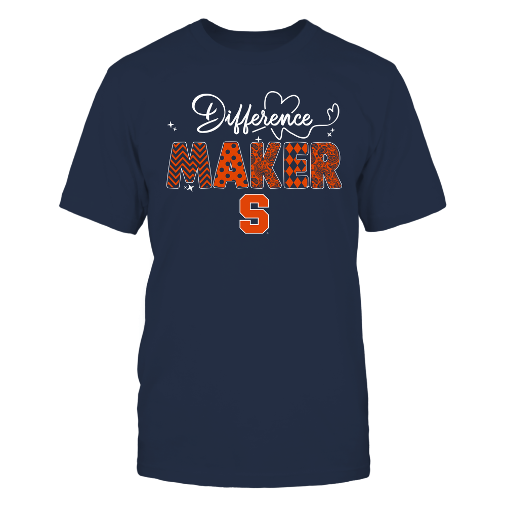 Syracuse Orange - Teacher - Difference Maker - Heart Beat Pattern Front picture