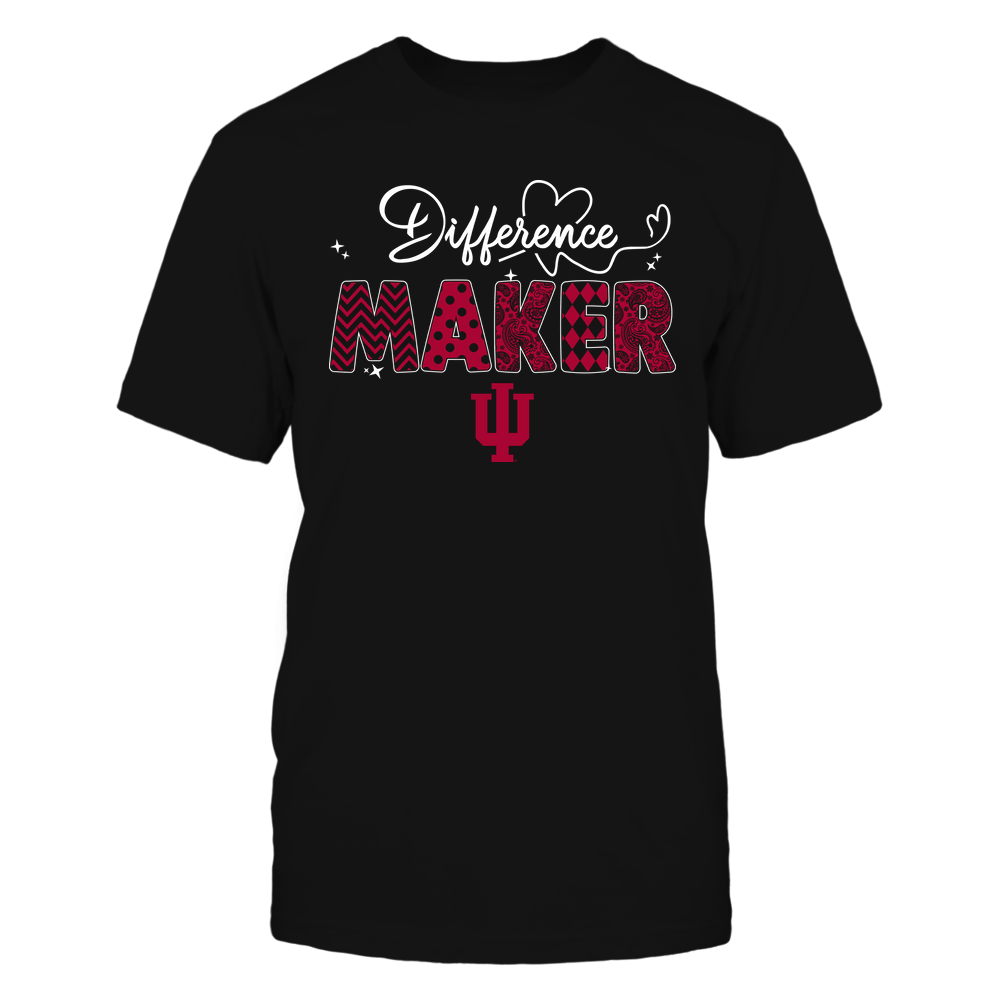 Indiana Hoosiers - Teacher - Difference Maker - Heart Beat Pattern Front picture