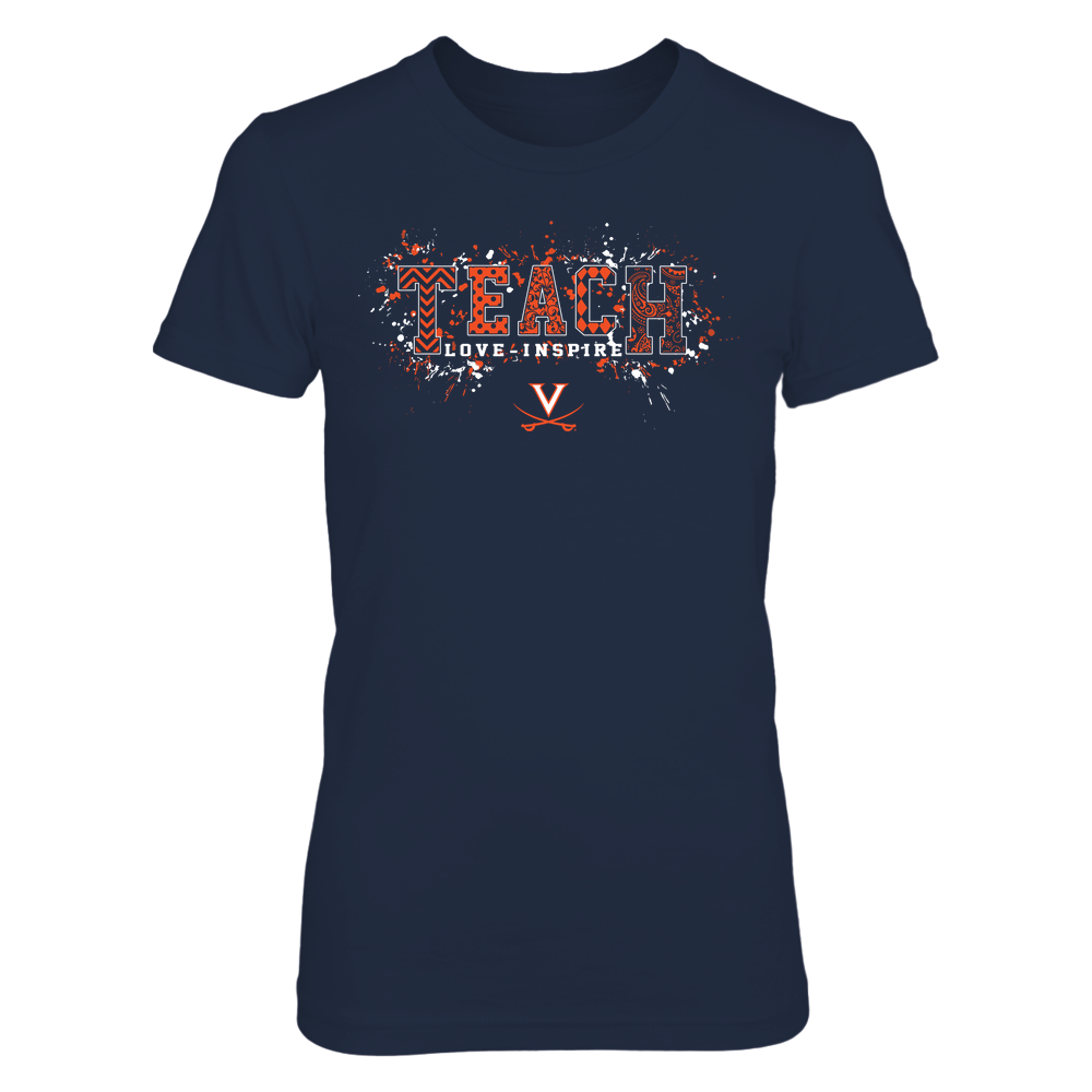 Virginia Cavaliers - Teach Love Inspire - Patterned Color Drop - Team Front picture