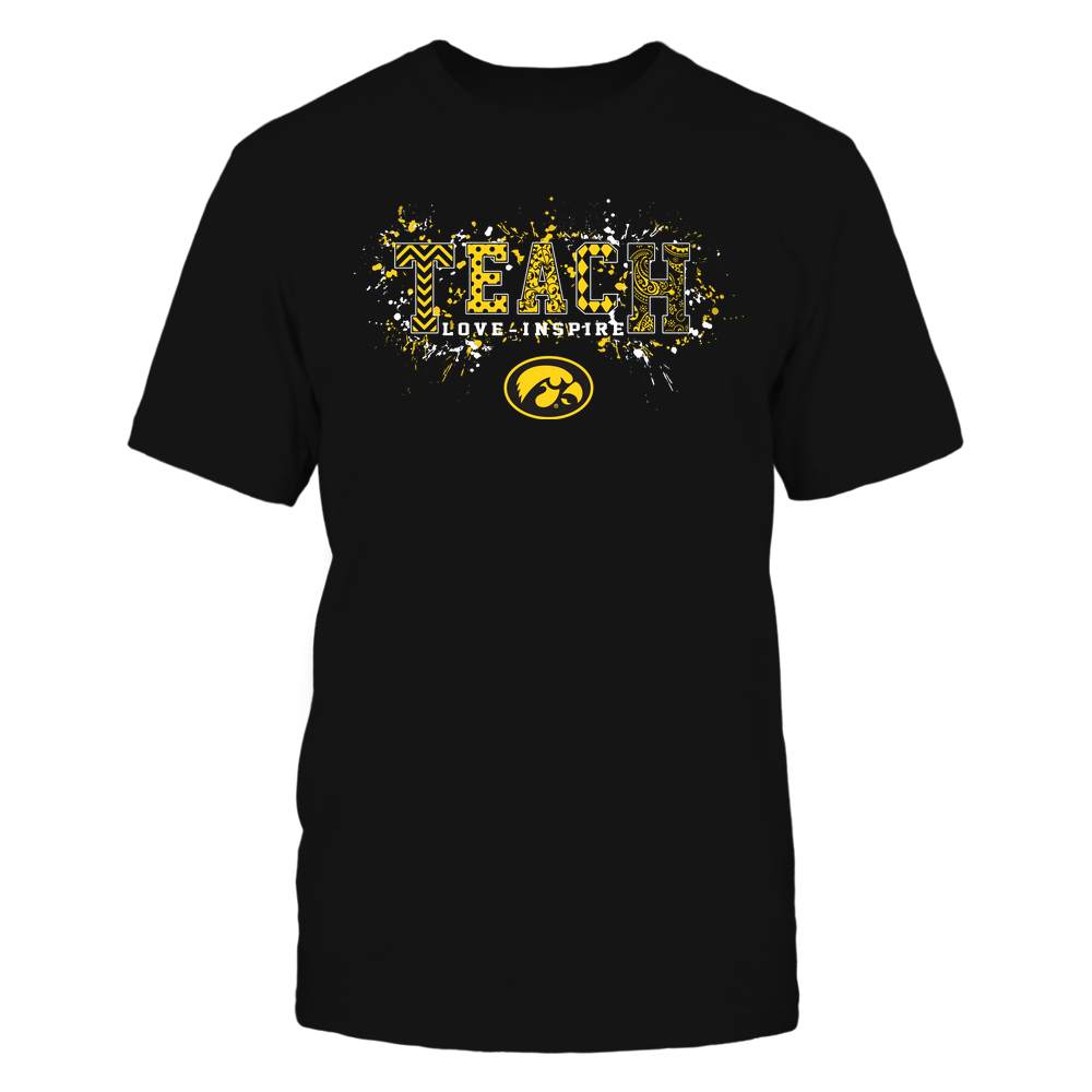 Iowa Hawkeyes - Teach Love Inspire - Patterned Color Drop - Team Front picture