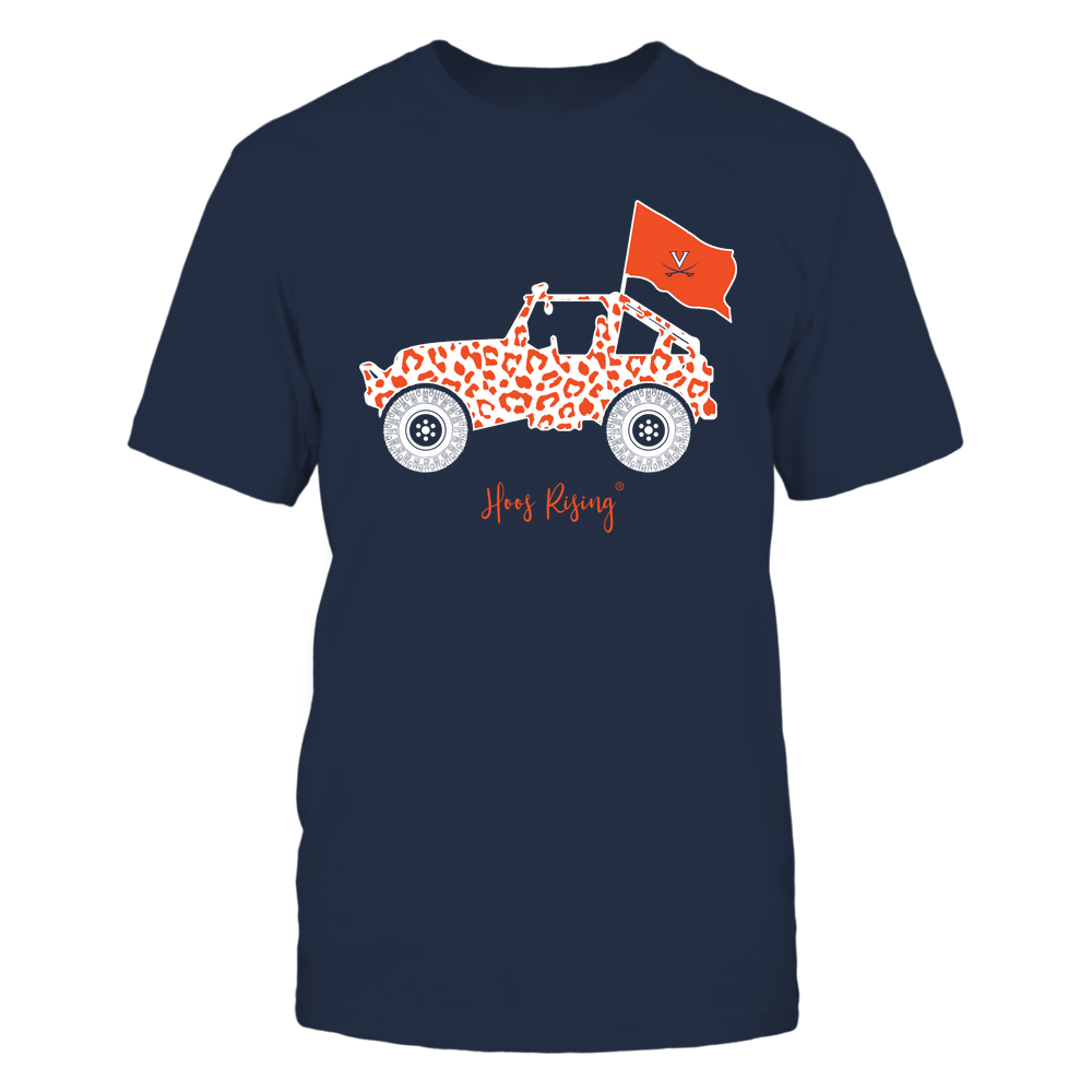 Virginia Cavaliers - Leopard Jeep - Team Front picture