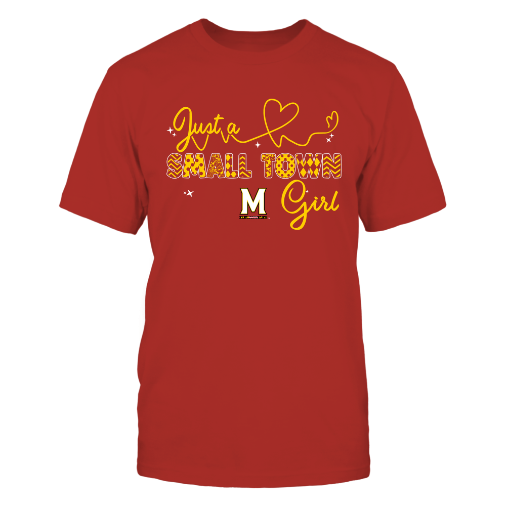 Maryland Terrapins - Small Town Girl - Heart Beat Pattern Front picture
