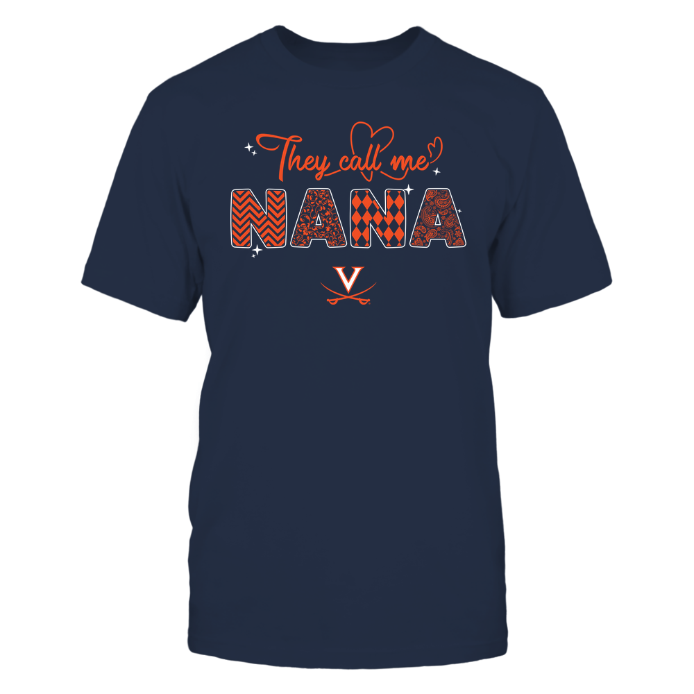Virginia Cavaliers - They Call Me Nana - Heart Beat Pattern Front picture
