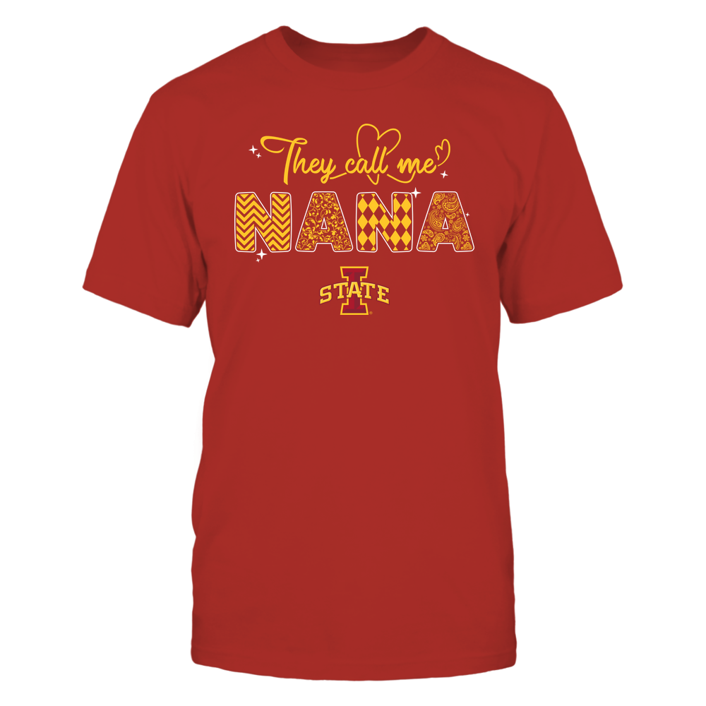 Iowa State Cyclones - They Call Me Nana - Heart Beat Pattern Front picture