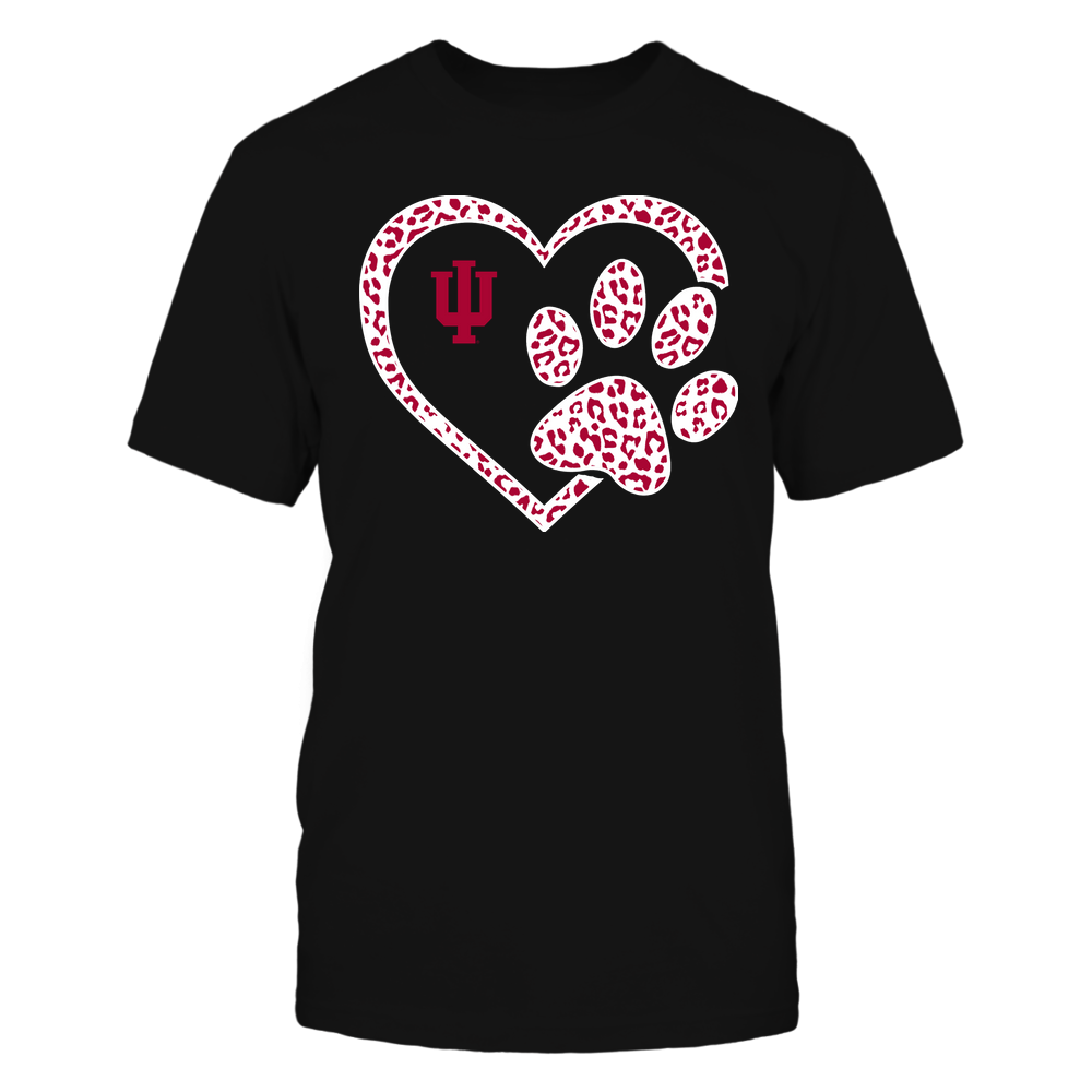 Indiana Hoosiers - Heart Paw ^ Leopard Pattern Front picture