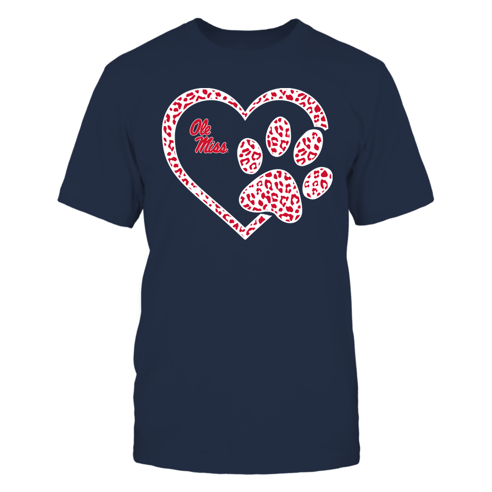 Ole Miss Rebels - Heart Paw ^ Leopard Pattern Front picture