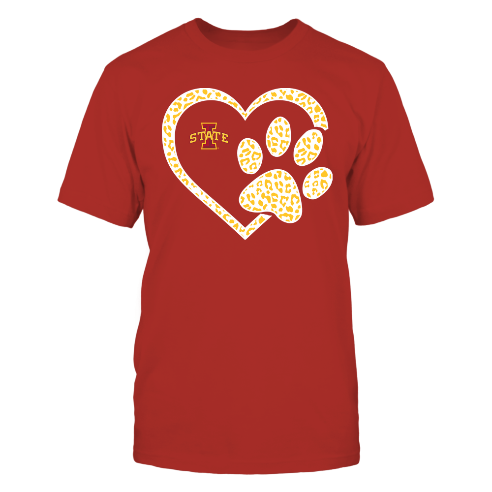 Iowa State Cyclones - Heart Paw ^ Leopard Pattern Front picture