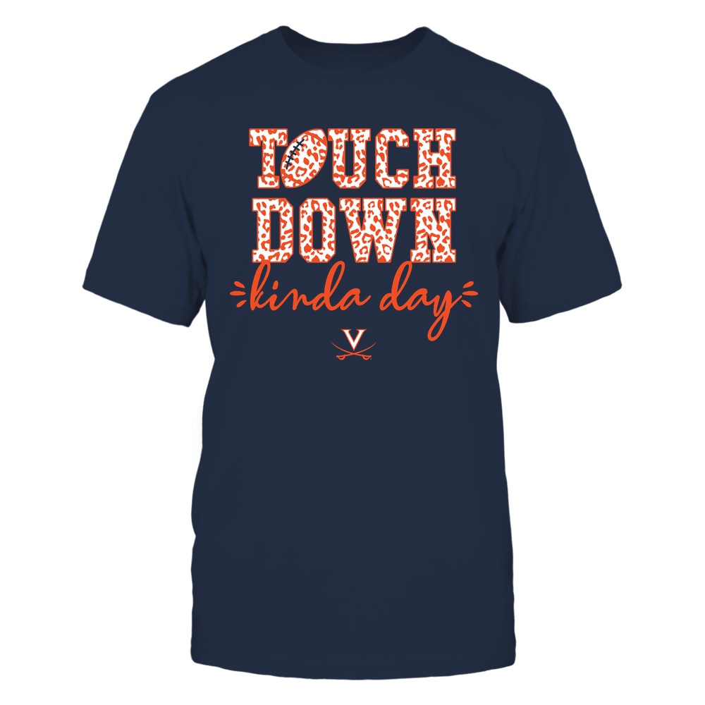 Virginia Cavaliers - Touch Down Kinda Day - Leopard Pattern - Team Front picture