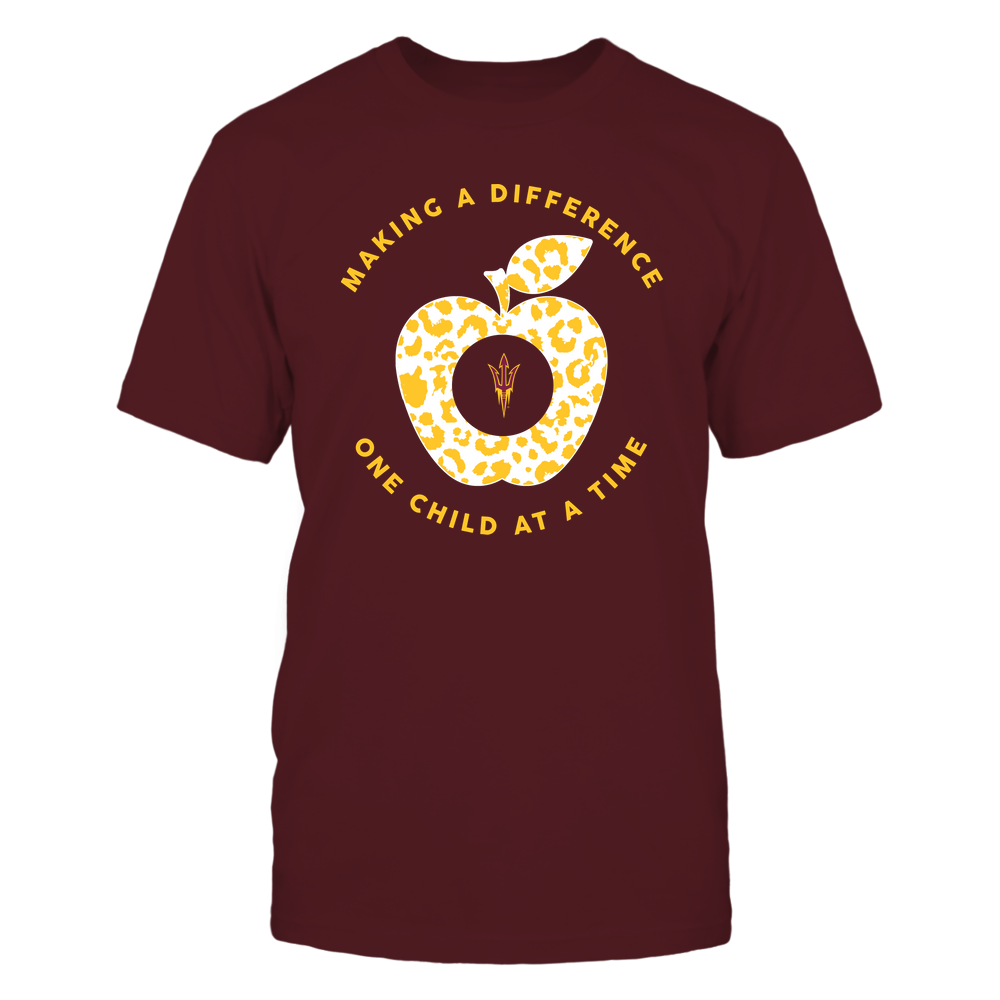 Arizona State Sun Devils - Teacher - Making A Difference One Child At A Time - Leopard Apple Front picture