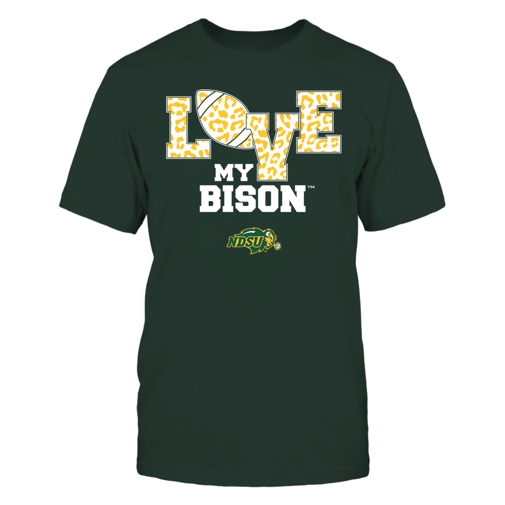 North Dakota State Bison - Love My Team - Football Leopard Pattern - Team Front picture