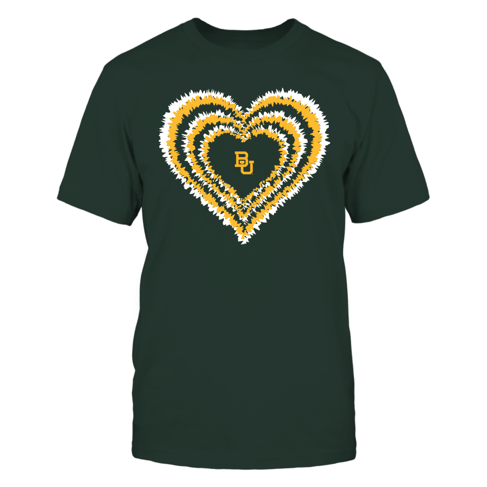 Baylor Bears - Tie-Dye Heart - Team Front picture