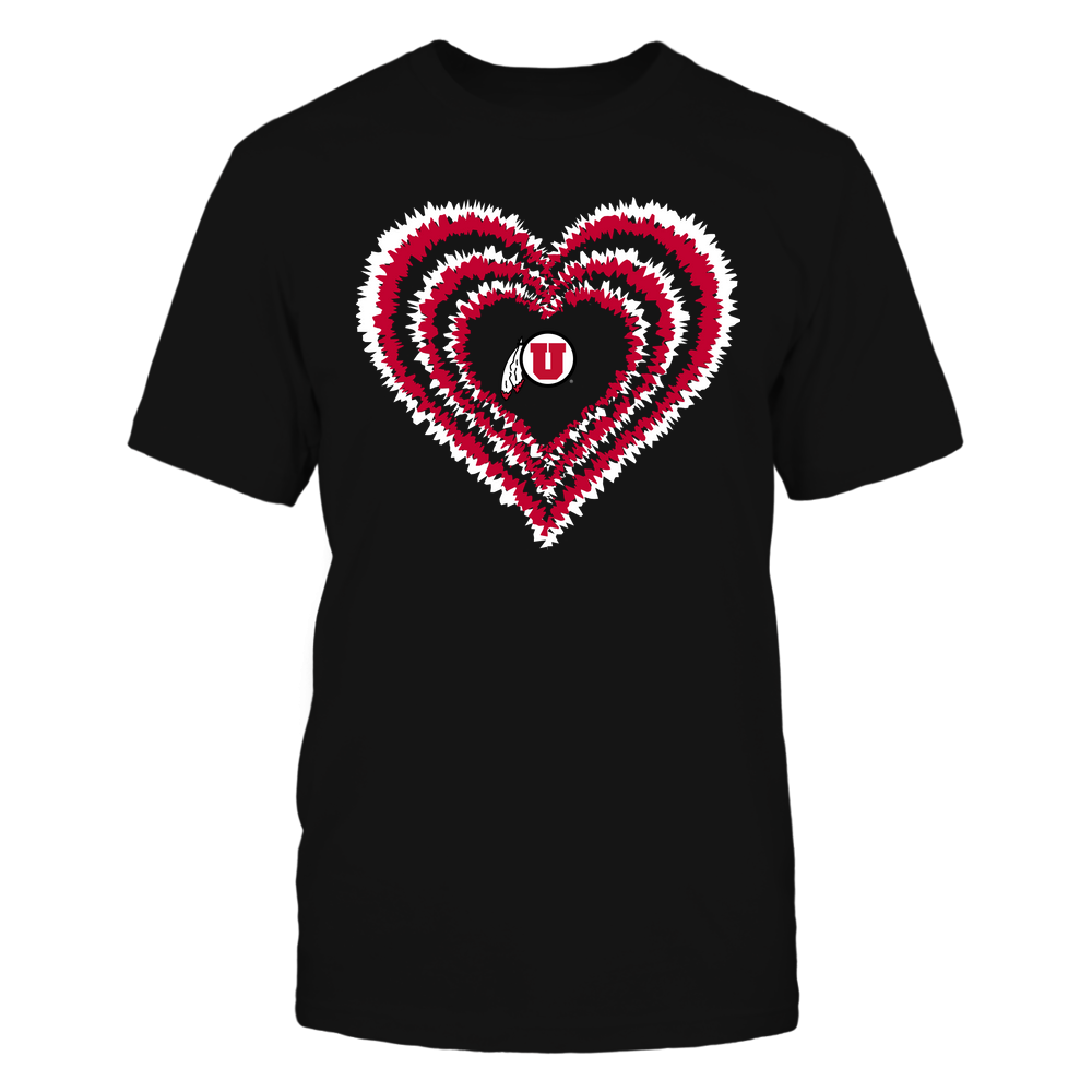 Utah Utes - Tie-Dye Heart - Team - IF-IC32-DS84 Front picture