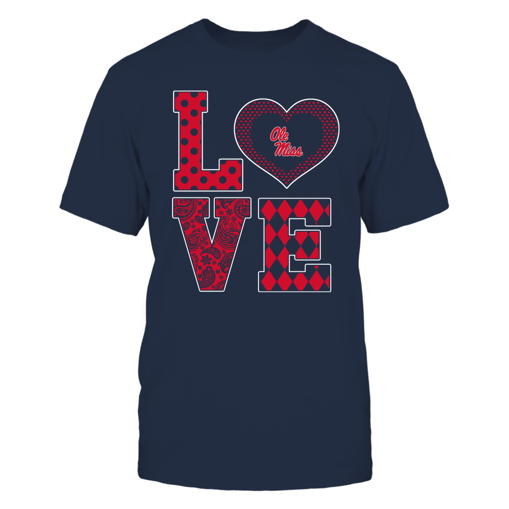 Ole Miss Rebels - Stacked Love - Heart Shape - Team Front picture