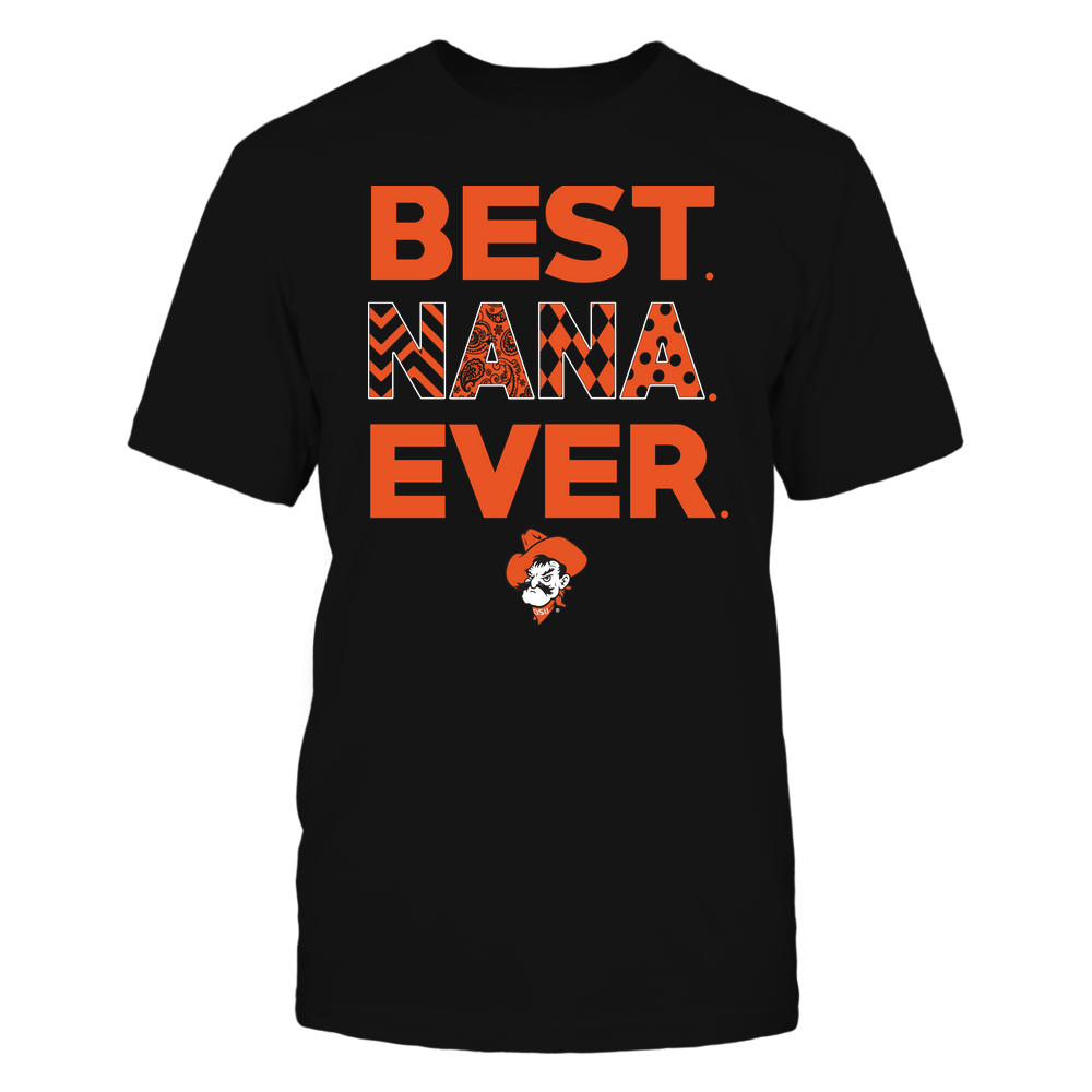 Oklahoma State Cowboys - Best Nana Ever - Patterned - Team Front picture