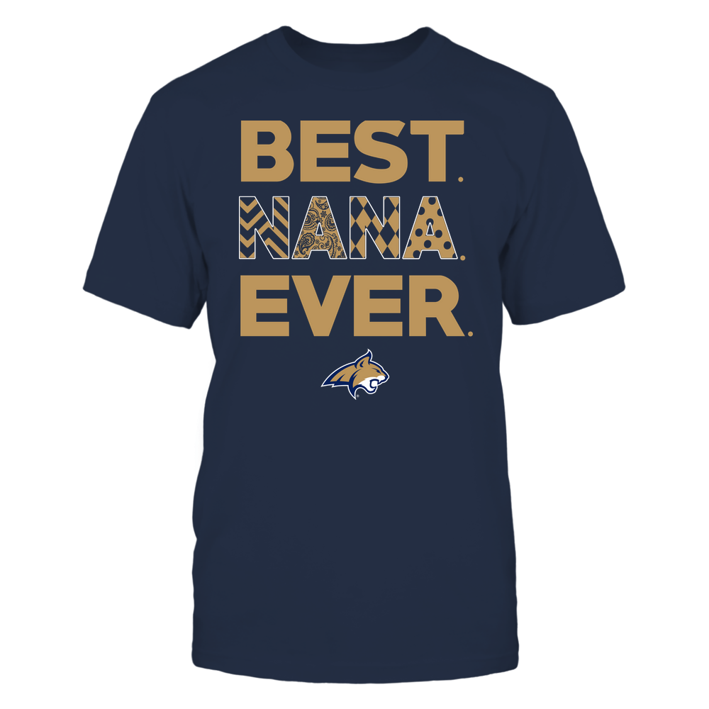 Montana State Bobcats - Best Nana Ever - Patterned - Team Front picture