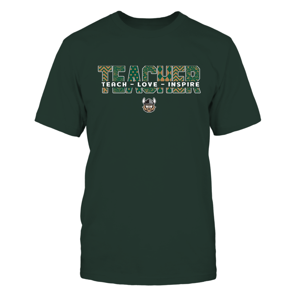 Cleveland State Vikings - 19100410062 - Teacher - Teach Love Inspire Cut Through Patterned - IF13-IC13-DS27 - APCX Front picture