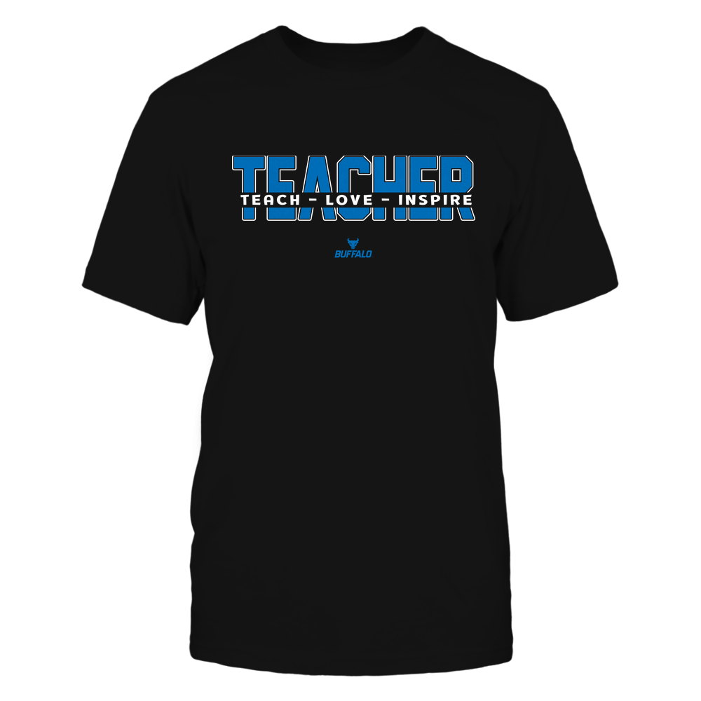 Buffalo Bulls - 19100410062 - Teacher - Teach Love Inspire Cut Through Patterned - IF13-IC13-DS27 - APCX Front picture