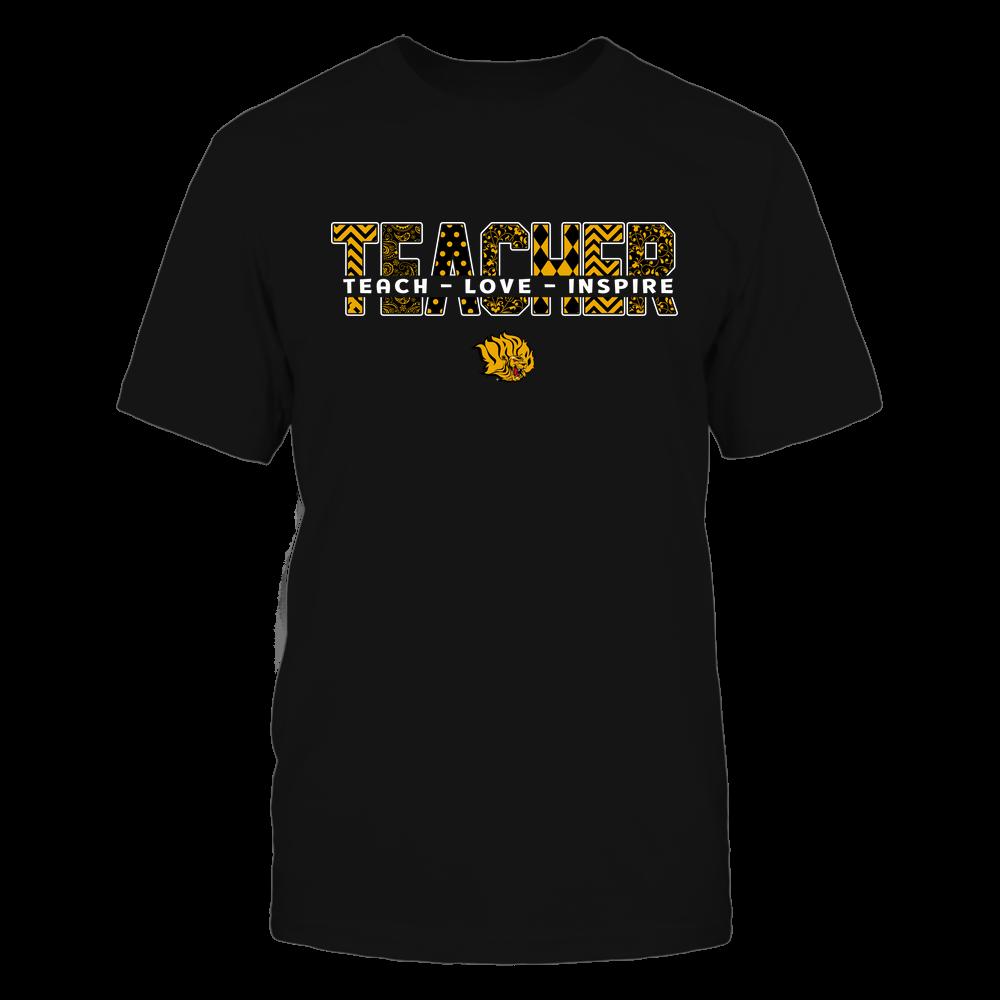 Arkansas Pine Bluff Golden Lions - 19100410062 - Teacher - Teach Love Inspire Cut Through Patterned - IF13-IC13-DS27 - APCX Front picture
