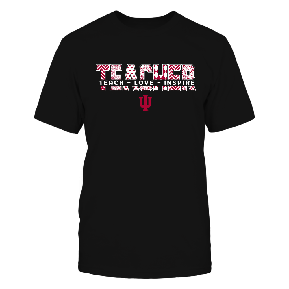 Indiana Hoosiers - 19100410062 - Teacher - Teach Love Inspire Cut Through Patterned - IF13-IC13-DS27 - APCX Front picture