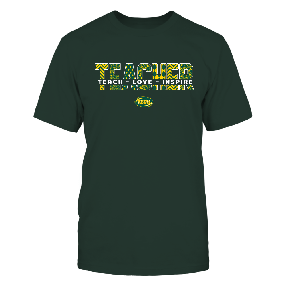 Arkansas Tech Golden Suns - 19100410062 - Teacher - Teach Love Inspire Cut Through Patterned - IF13-IC13-DS27 - APCX Front picture