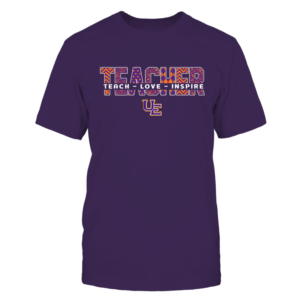 Evansville Purple Aces - 19100410062 - Teacher - Teach Love Inspire Cut Through Patterned - IF13-IC13-DS27 - APCX Front picture
