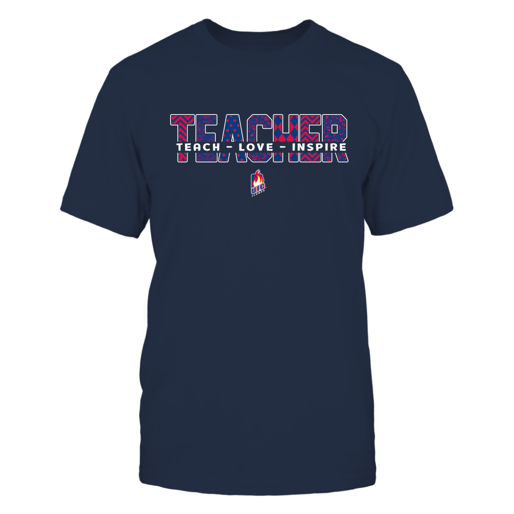 UIC Flames - 19100410062 - Teacher - Teach Love Inspire Cut Through Patterned - IF13-IC13-DS27 - APCX Front picture