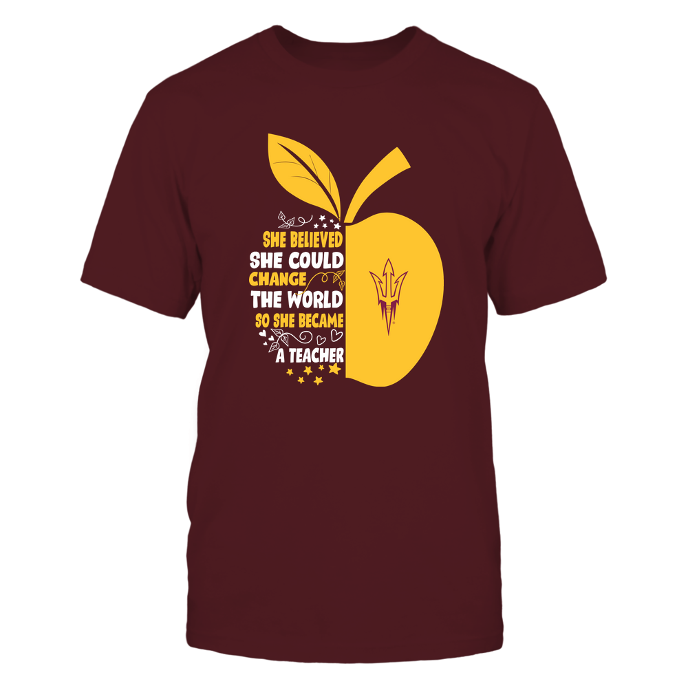 Arizona State Sun Devils - Teacher - Beautiful Day To Teach - Half Apple - IF32-IC32-DS75 Front picture