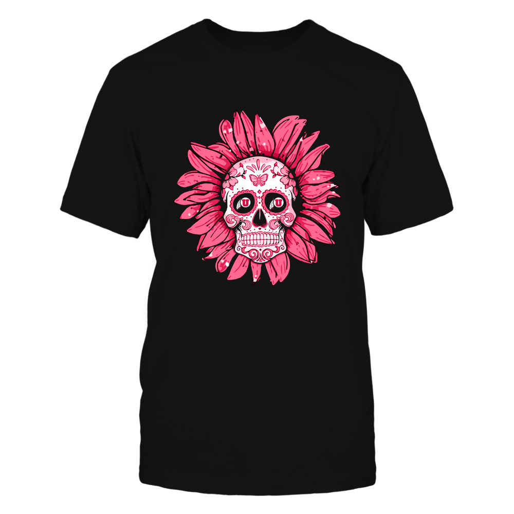 Utah Utes - Flower Sugar Skull - IF13-IC13-DS38 Front picture
