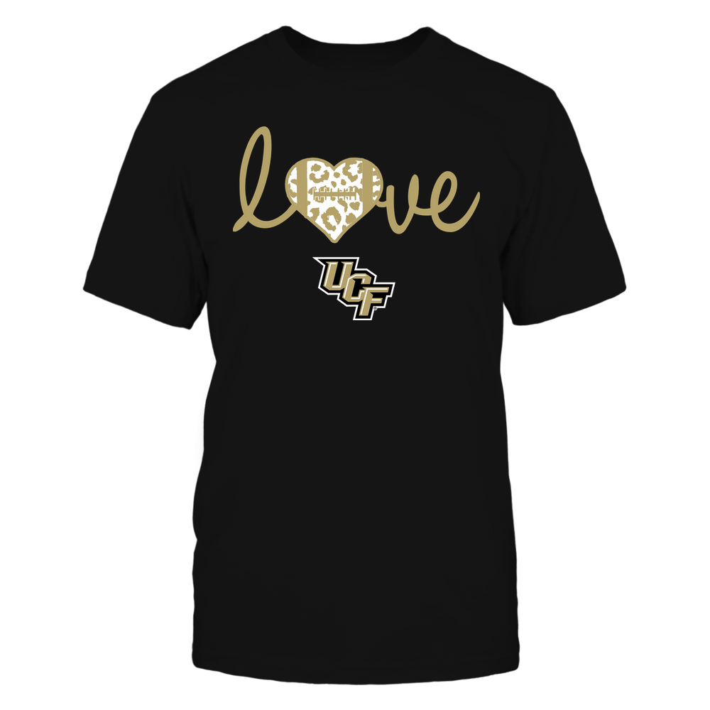 UCF Knights - Football - Love Heart Leopard Pattern - Team Front picture