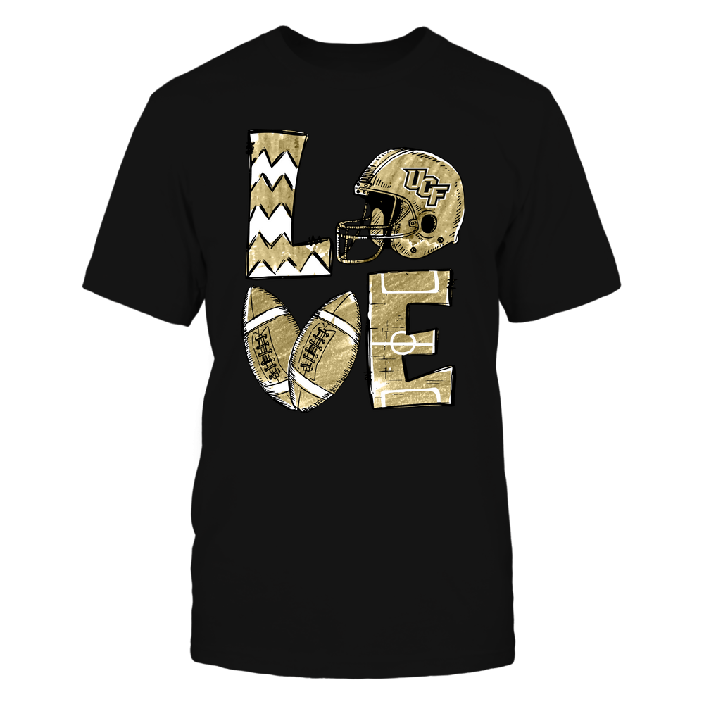 UCF Knights - Love Football Hand Drawn - IF32-IC32-DS75 Front picture