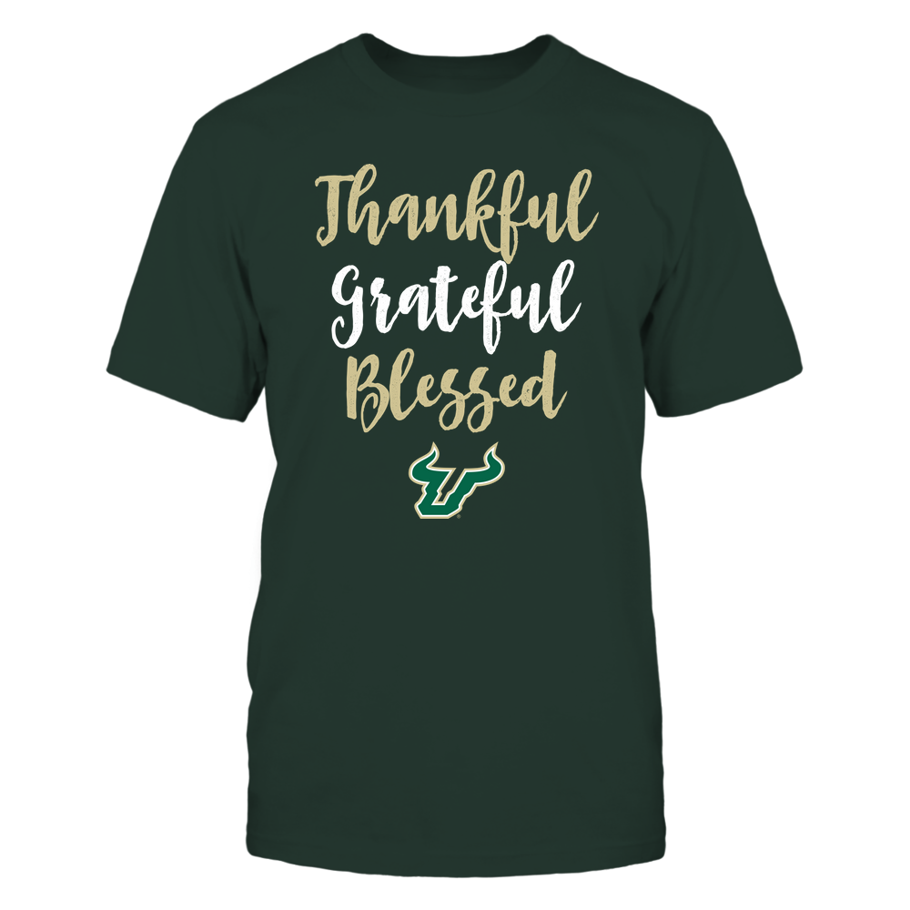 South Florida Bulls - Thanksgiving - Thanksful Greateful Blessed - Team Front picture