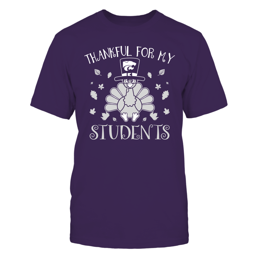 Kansas State Wildcats - Teacher - Thankful for My Students - Thanksgiving Front picture