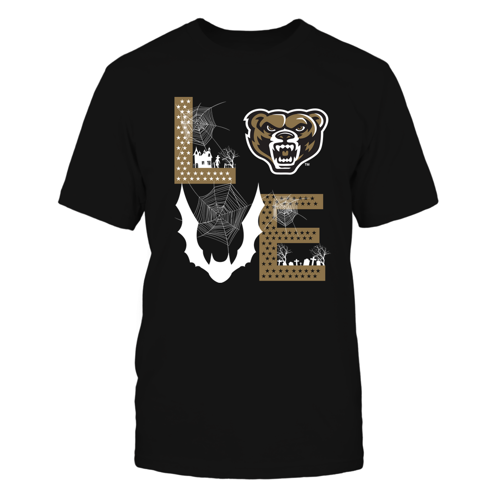 Oakland Golden Grizzlies - Stacked Love - Halloween Bat - Team Front picture