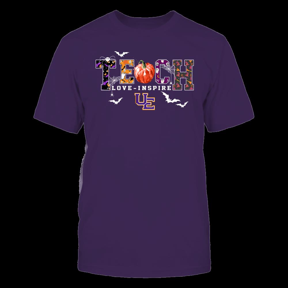 Evansville Purple Aces - Halloween - Teach Love Inspire - Pumpkin Slogan Front picture