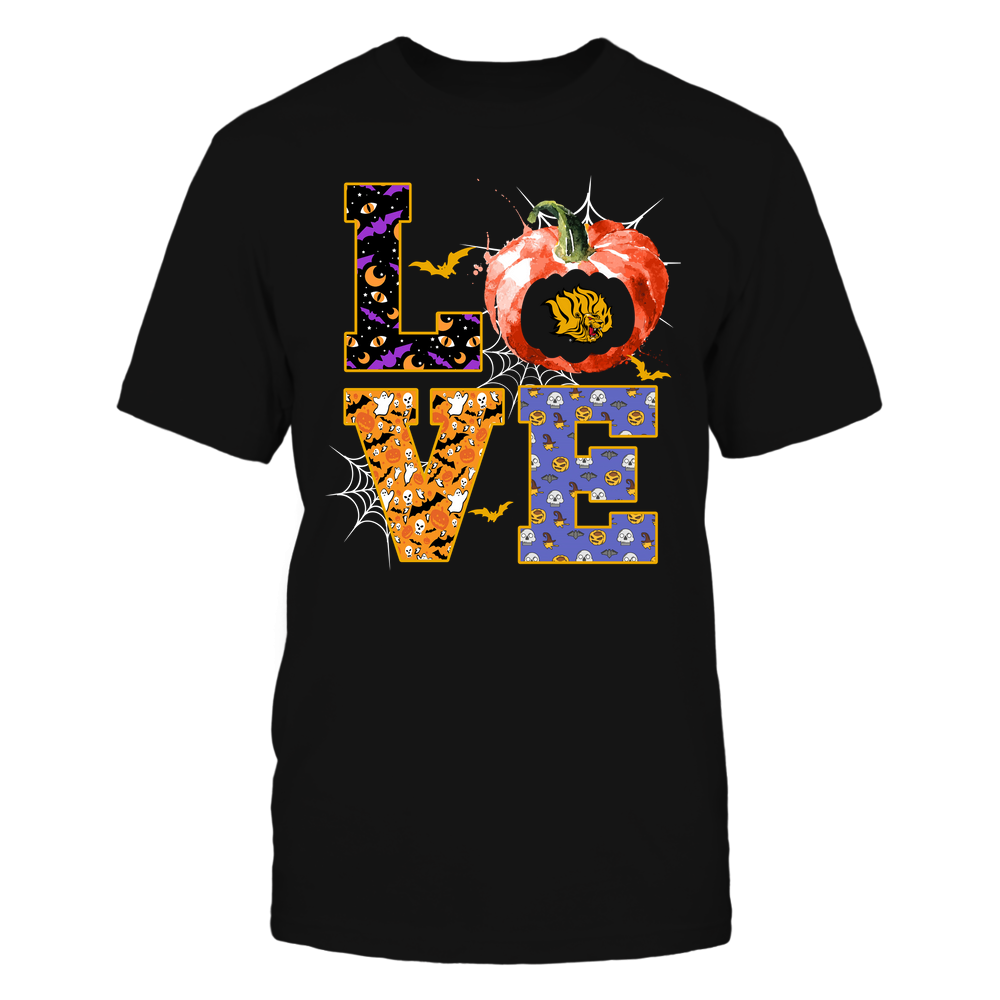 Arkansas Pine Bluff Golden Lions - Halloween - Stacked Love - Team Front picture