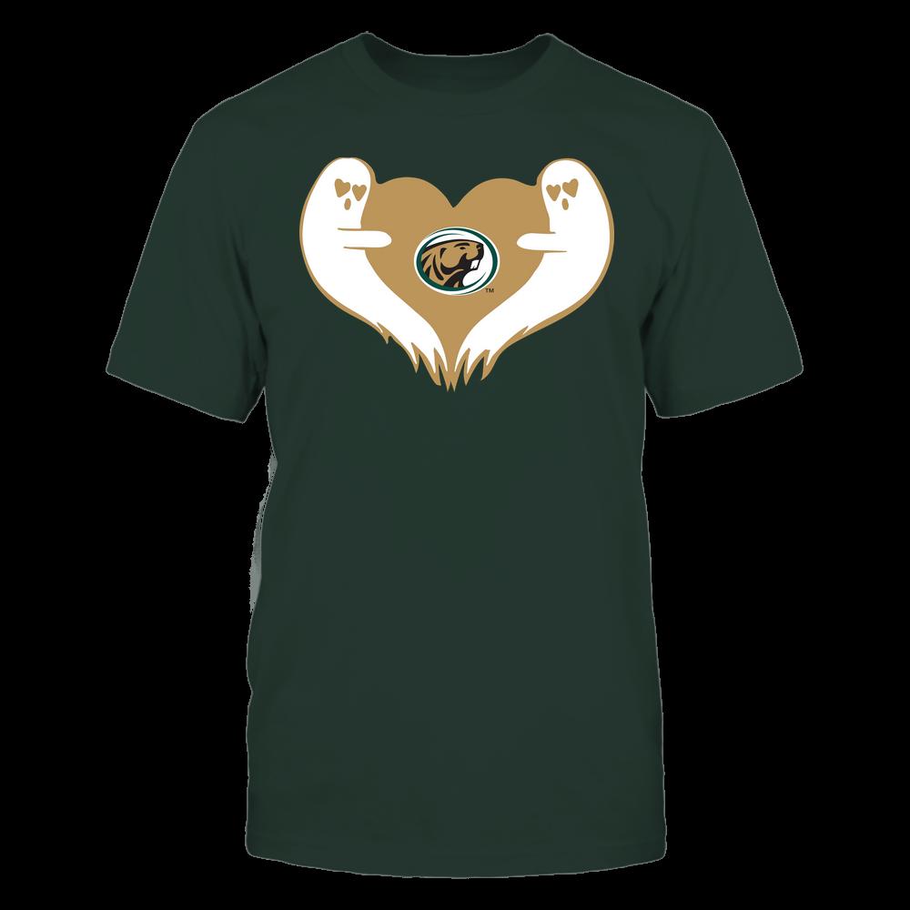Bemidji State Beavers - Halloween - Ghost Heart - Team Front picture