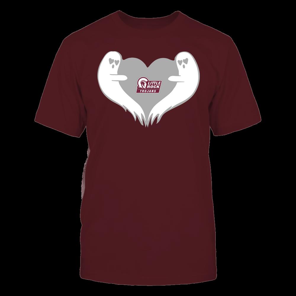 Arkansas Little Rock Trojans - Halloween - Ghost Heart - Team Front picture