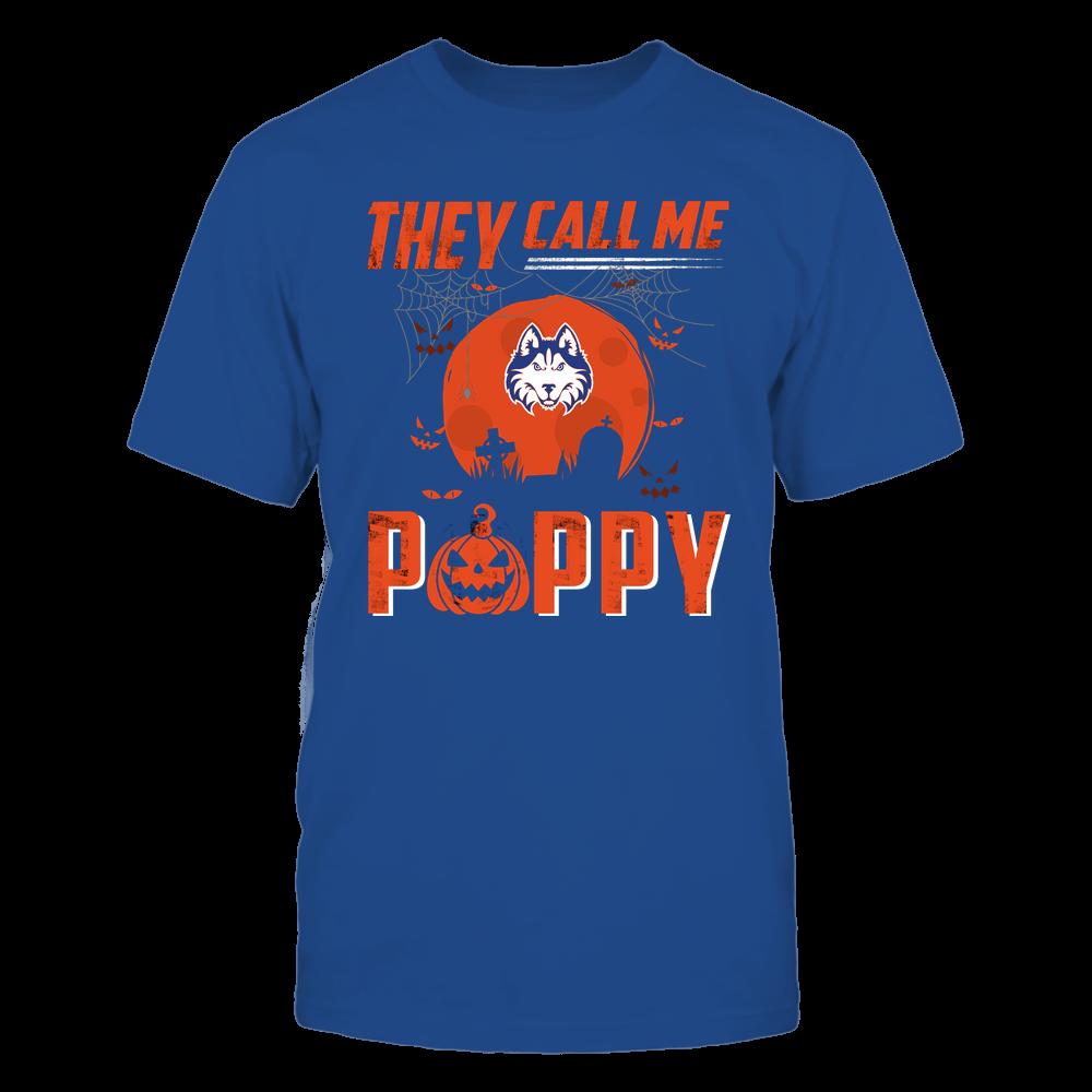 Houston Baptist Huskies - They Call Me Poppy - Halloween Pumpkin Front picture