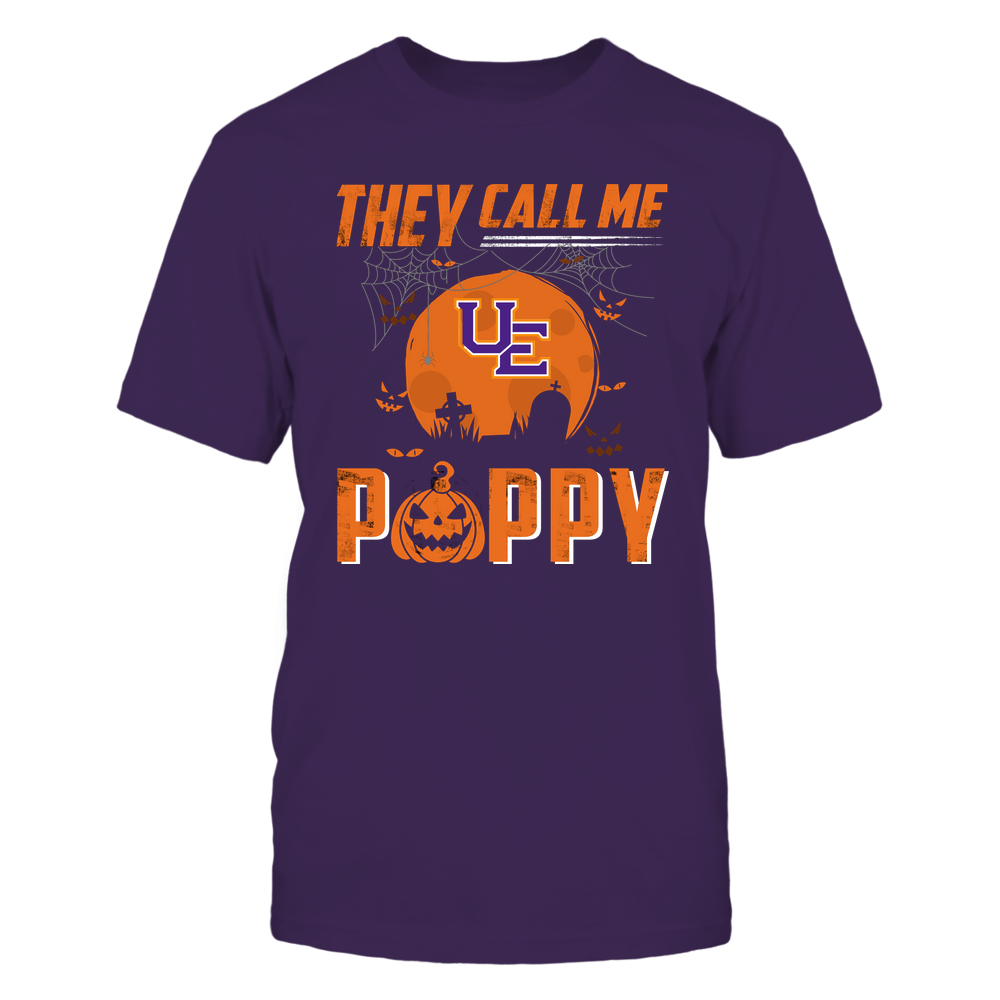 Evansville Purple Aces - They Call Me Poppy - Halloween Pumpkin Front picture