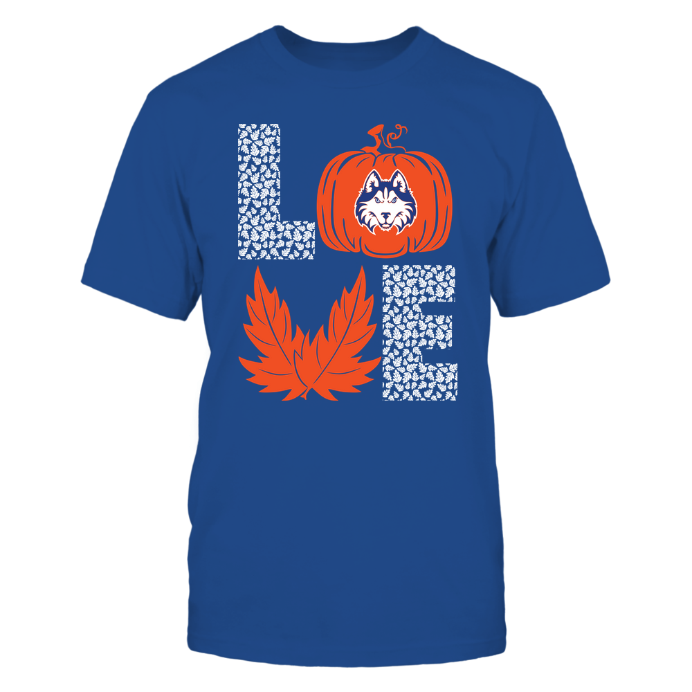 Houston Baptist Huskies - Stacked Love - Fall - Leaf Pumpkin - Team Front picture