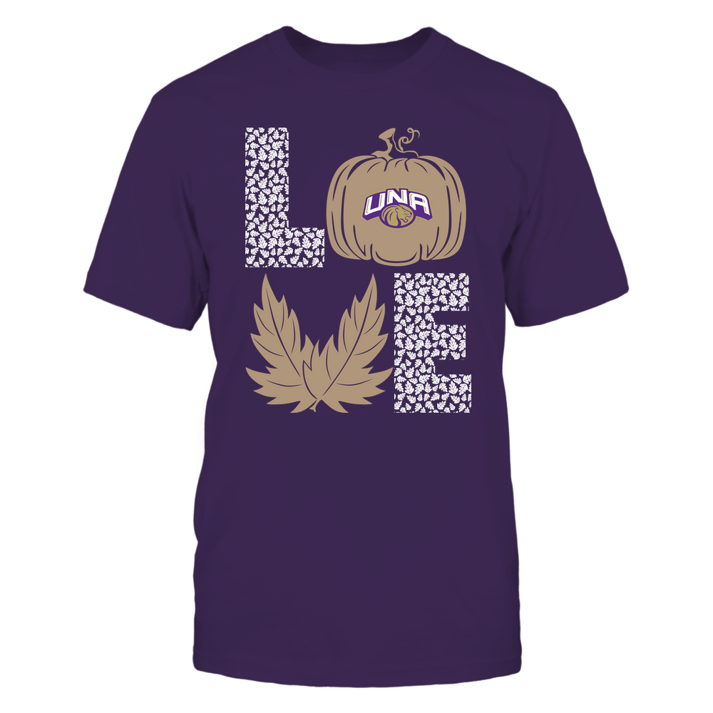 North Alabama Lions - Stacked Love - Fall - Leaf Pumpkin - Team Front picture